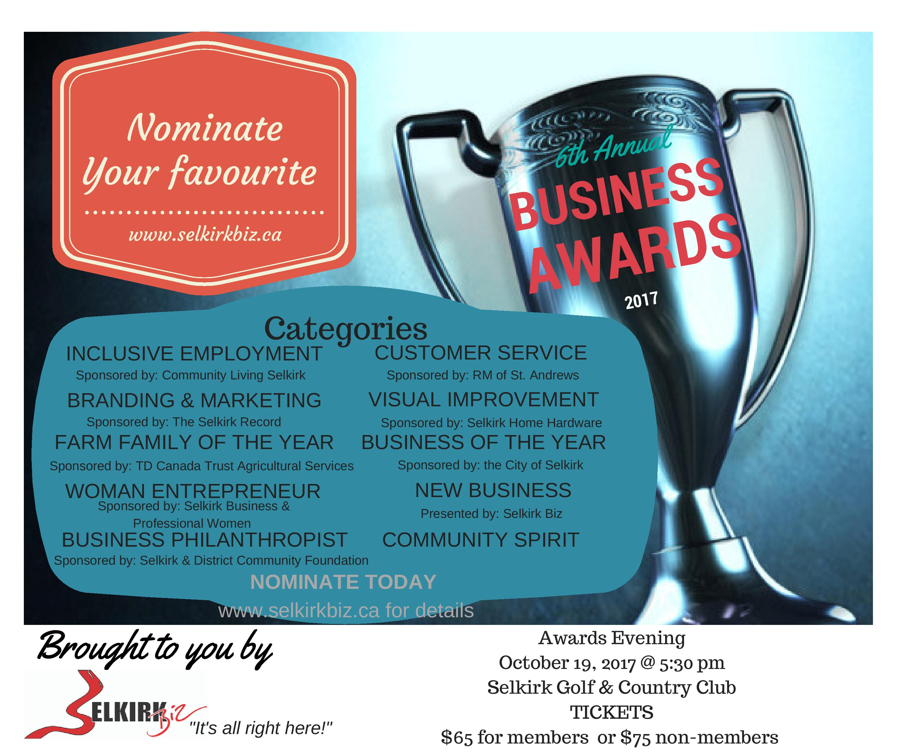 Biz Awards Poster