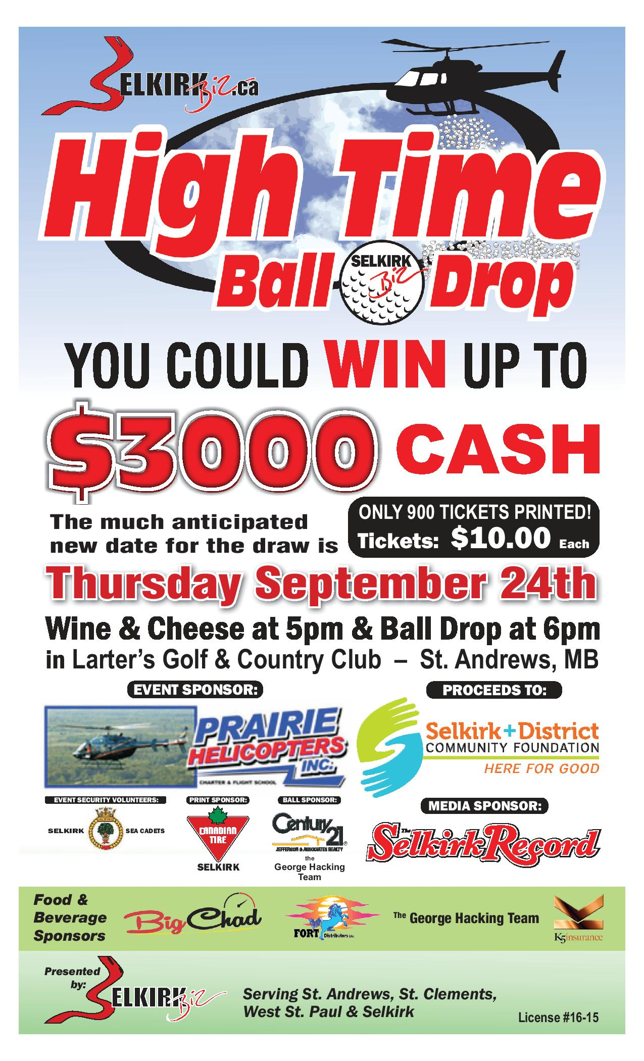 Selkirk Biz Golf Ball Drop